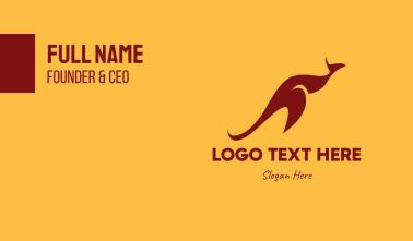 Aussie Red Kangaroo Business Card