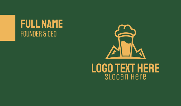 draught beer - Craft Beer Brewer   Business card horizontal design