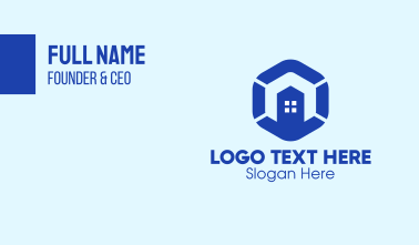 Building Construction Hexagon Business Card