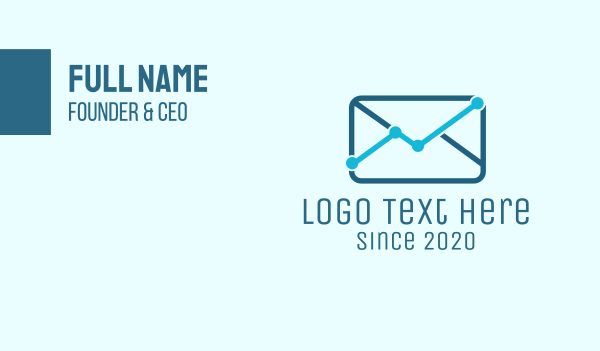 percentage - Mail Analytics Business card horizontal design