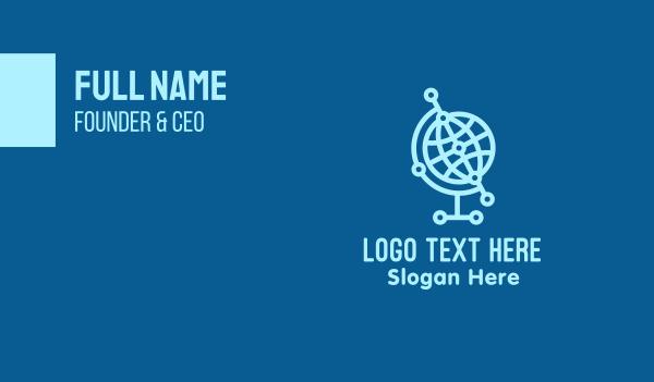 webhosting - Global Technology Business card horizontal design