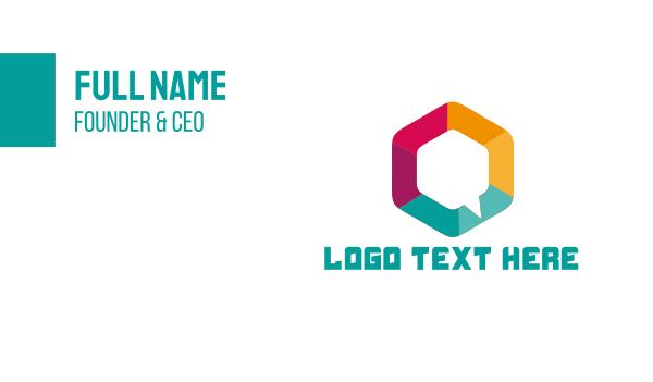 talk show - Hexagon Chat Business card horizontal design