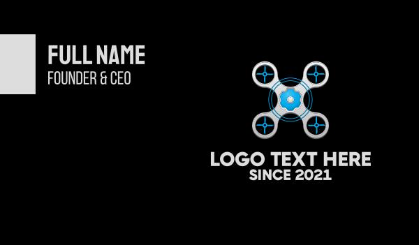 control - Drone Repair Service Business card horizontal design
