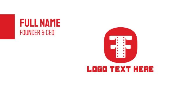 theater - Filmstrip Circle Business card horizontal design