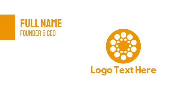 orange and white - Orange Circle Business card horizontal design