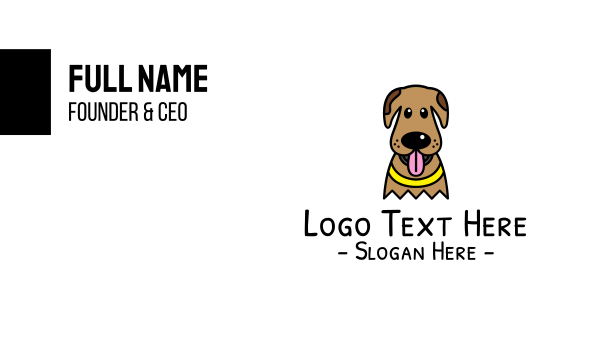 hound - Pet Dog Business card horizontal design