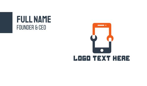repairman - Phone Technician Business card horizontal design