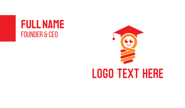 graduation - Bright  Student Business card horizontal design