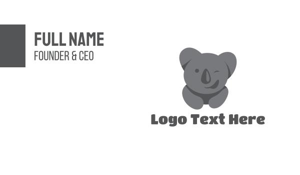 wink - Funny Koala Bear Business card horizontal design