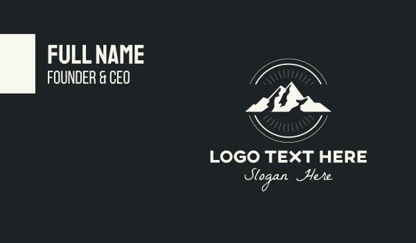 hiking - Outdoor Mountain Peak Business card horizontal design