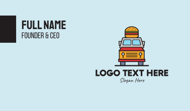 Burger Food Truck Business Card
