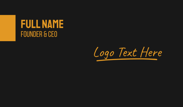 chalkboard - Luxurious Signature Wordmark Business card horizontal design