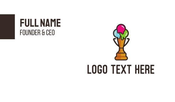 creamery - Premium Ice Cream Business card horizontal design