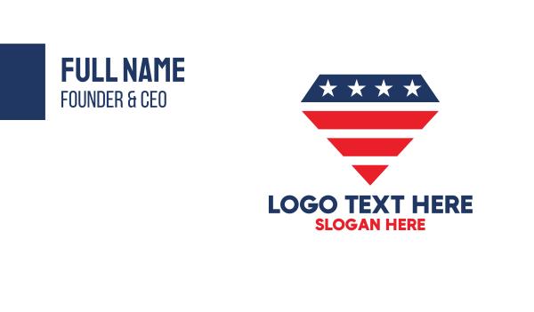 north america - American Diamond Business card horizontal design