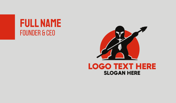 suit - Office Warrior Business card horizontal design