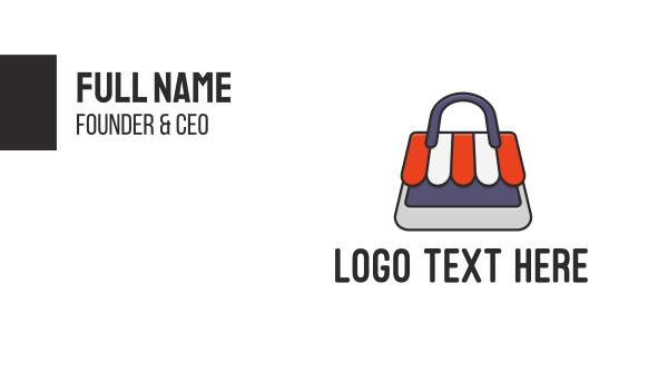coupon - Bag Store Business card horizontal design