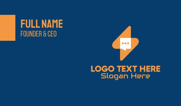 message bubble - Lightning Messenger App Business card horizontal design