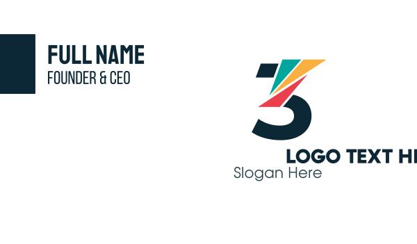 advertising - Colorful Mosaic Three Business card horizontal design