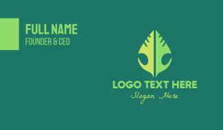 Tribal Leaf Business Card