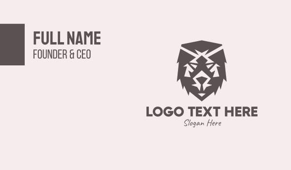 bear - Brown Wild Bear Business card horizontal design