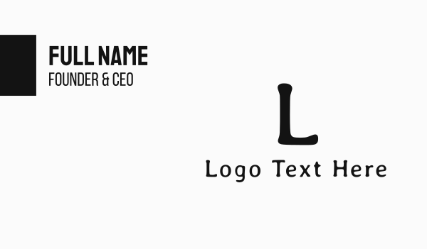 couture - Fashion Lettermark Business card horizontal design