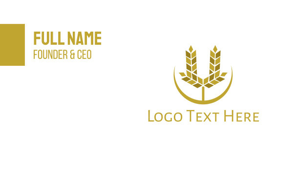 cereal - Modern U Wheat Business card horizontal design