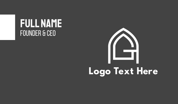 entry - A & G  Business card horizontal design