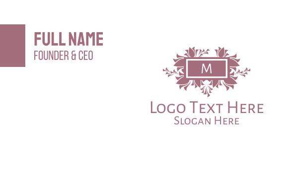 cemetery - Floral Arrangement Lettermark  Business card horizontal design