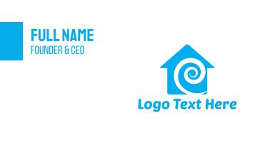 Blue Swirl House Business Card
