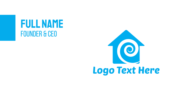 pipe - Blue Swirl House Business card horizontal design
