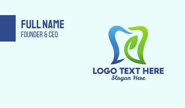 toothbrush - Organic Toothpaste  Business card horizontal design