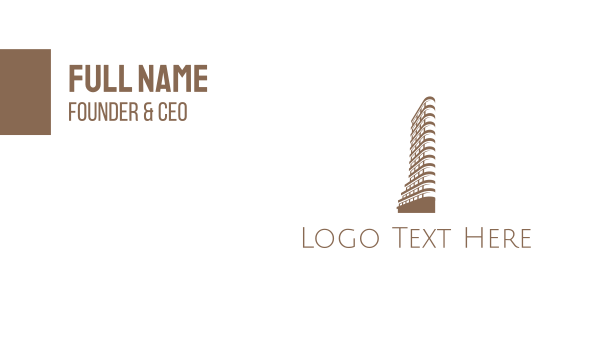 ny - Flatiron Building Business card horizontal design