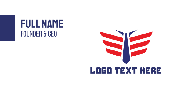 suit - American Pilot Business card horizontal design
