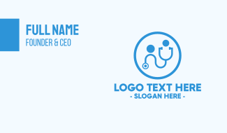 Doctor Medical Stethoscope  Business Card