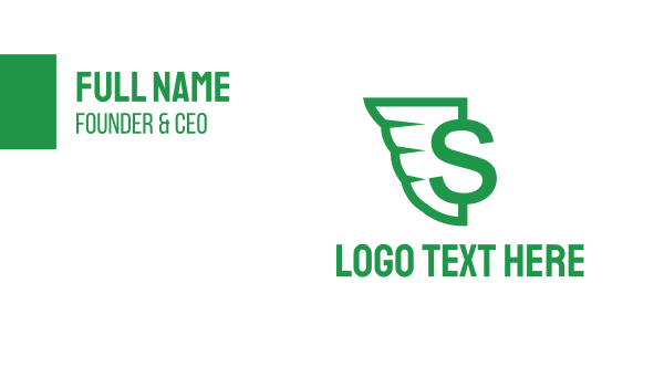 airforce - Green Wing S Business card horizontal design