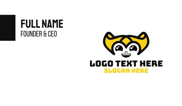 princess - Gold Hair Creature Mascot Business card horizontal design