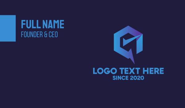 check mark - Generic Blue Check Business card horizontal design