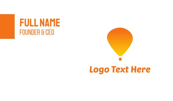 voyage - Orange Balloon Business card horizontal design