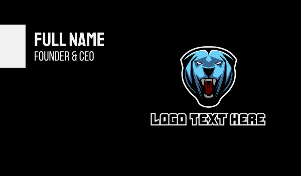 clan - Hound Gaming Esport Mascot Business card horizontal design