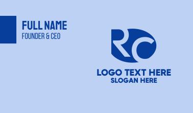 R & C Monogram Business Card
