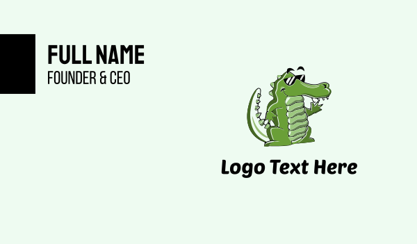 cool - Cool Croc Business card horizontal design