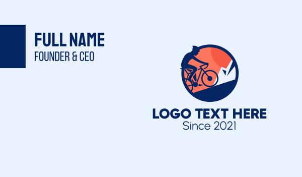 bike tour - Professional Bike Cyclist  Business card horizontal design