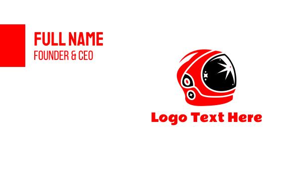 visionary - Astronaut Helmet Business card horizontal design