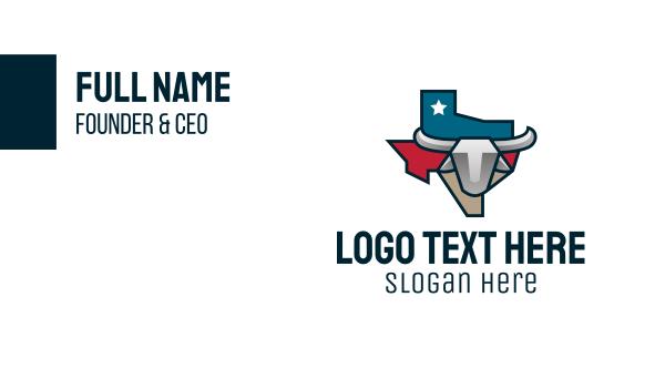 state - Texas Bull Business card horizontal design