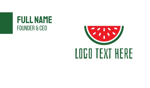 watermelon slice - Watermelon Slice Business card horizontal design