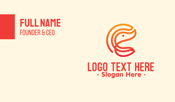 shrimp - Gradient Shrimp Letter C Business card horizontal design