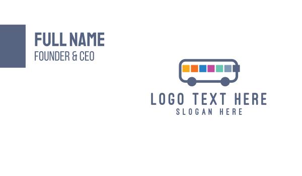 school bus - App Bus Business card horizontal design