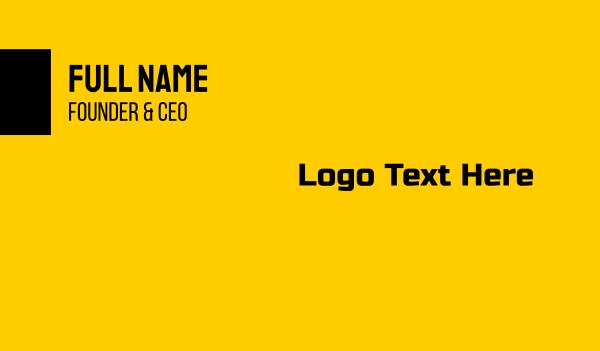 bargain - Black & Yellow Budget Text Business card horizontal design