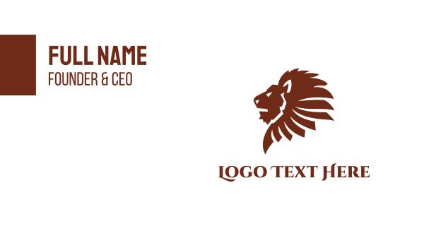 fierce - Brown Lion Business card horizontal design