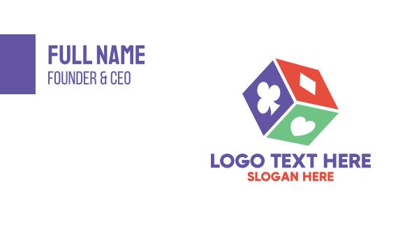 poker - Gambling Dice Business card horizontal design